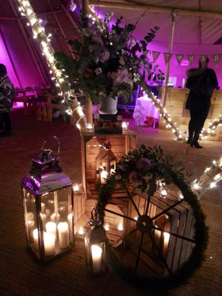 Wedding Marquee styling & dressing by Dreamweavers, Cheshire